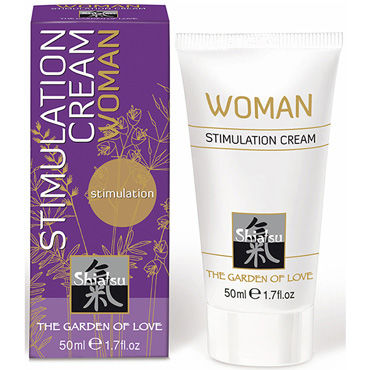Shiatsu Stimulation Cream Woman, 50мл Стимулирующий крем для женщин hot cilitoris creme stimulating 30мл стимулирующий крем для женщин