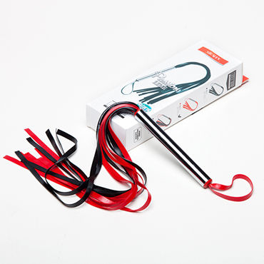 Sitabella Плеть-лента, черно-красная С металлической рукояткой bioclon насадка фаллоимитатор с поясом harness реалистичной формы в подарочной упаковке