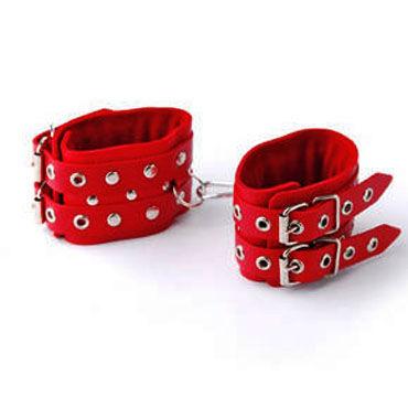 Sitabella наручники красный Наручники с двумя ремешками bad kitty fetish set черный набор из четырех предметов