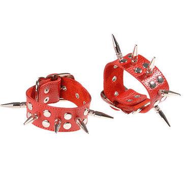 Sitabella Наручники красный Наручники с шипами sitabella хлопалка ладонь красный с жесткой рукояткой
