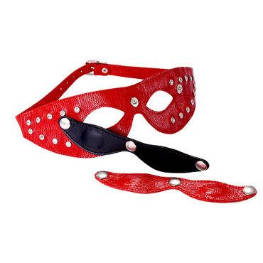 Sitabella маска красный С отстегивающимися шорами sitabella хлопалка ладонь красный с жесткой рукояткой