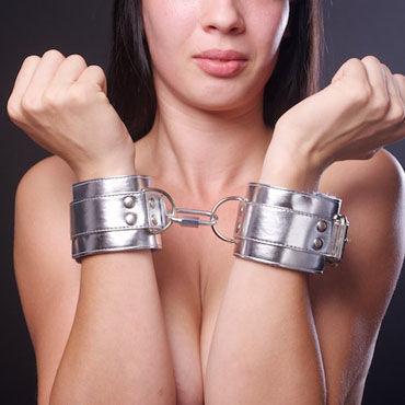 Sitabella наручники, серебристо-голубой С подкладкой из искусственного меха baile big man ii телесная насадка на фаллос с вибрацией в головке