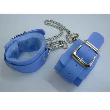 Sitabella Оковы голубой С искусственным мехом lola toys emotions cutie small фиолетовая анальная пробка с голубым кристаллом