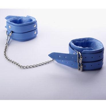 Sitabella Оковы голубой С мехом и двумя пряжками sitabella оковы красный с застежкой на липучке