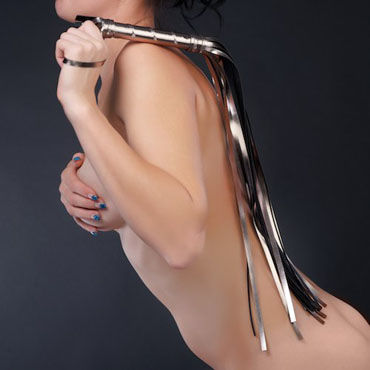 Sitabella Плеть серебряный Гладкая, с длинными хвостами гель смазка интимная durex 2 в 1 play massage stimulating 200мл
