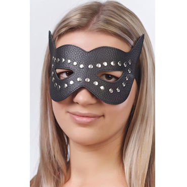 Sitabella маска, черная Кожаная, с велюровой подкладкой vizit hi tech ultra light презервативы ультратонкие