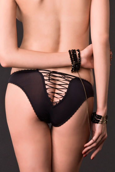 Maison Close, наручники Divine Attache / Menottes Из стеклянных бусин с цепочкой пульсаторы материал термопластичная резина екатеринбург