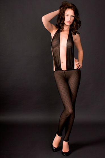 Maison Close, боди Rue Des Demoiselles Catsuit Triangle В виде чулка на тело maison close rue des demoiselles body string