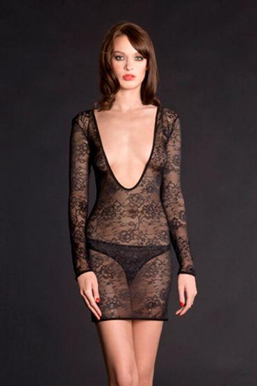 Maison Close, ночная сорочка Villa Des Lys Mini Robe С длинными рукавами maison close rue des demoiselles guepiere corset полупрозрачный с вырезом