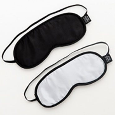Fifty Shades of Grey Soft Blindfold Twin Pack Две маски на глаза чулки soft line на кружевной резинке красные xxxl