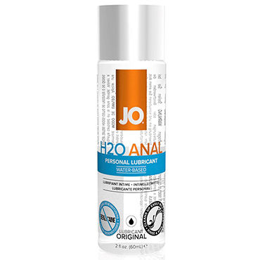 System JO Anal H2O, 60 мл Анальный лубрикант на водной основе system jo all in one fragrance free 120мл массажное масло и лубрикант без запаха
