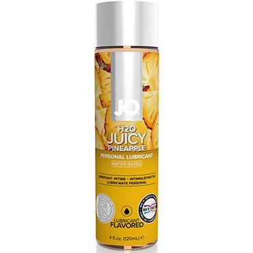 System JO Juicy Pineapple, 120 мл Лубрикант на водной основе с ароматом ананаса luxe maxima желтый дьявол презервативы с усиками и шариками