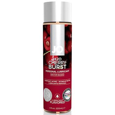 System JO Cherry Burst, 120 мл Лубрикант на водной основе с вишневым вкусом hearts красный маска на глаза