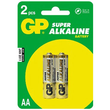 Тестер GP Super AA, 2 шт gp батарейка 23а