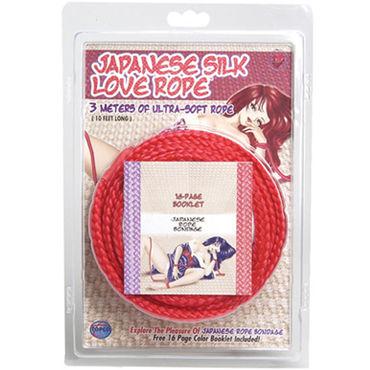 Topco Japanese Silk Love Rope, красный Веревка для фиксации, 5 м pipedream 15см squirting cock телесный фаллоимитатор с функцией эякуляции
