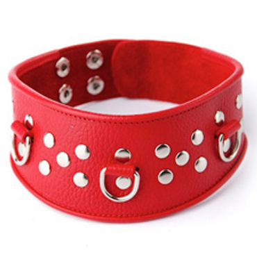 Sitabella ошейник, красный С кольцами для фиксации эрекциональные кольца на член цвет прозрачный