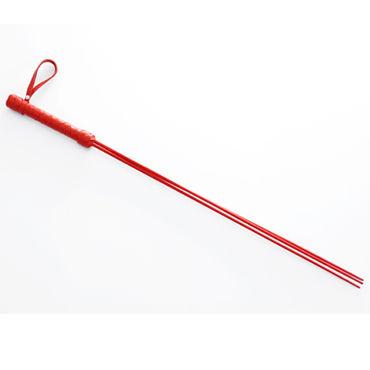 Sitabella розги, красные С тремя полимерными хлыстами sitabella розга сине черная с металлической рукояткой и тремя полимерными хлыстами