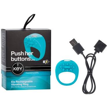 Jopen Key Ela, голубой Виброкольцо с перезаряжаемым аккумулятором с vanity ин jopen мк15