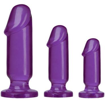 Doc Johnson Anal Starter Kit, фиолетовые Набор анальных фаллоимитаторов topco bum buddies набор анальных фаллоимитаторов