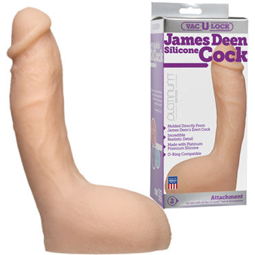 Doc Johnson Vac-U-Lock James Deen Silicone Cock Реалистичная насадка к трусикам samsung galaxy core prime ve duos sm g361h grey