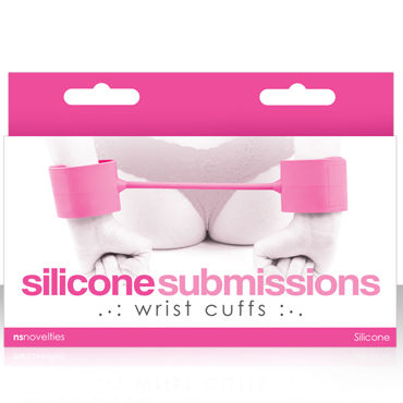 NS Novelties Silicone Submissions Wrist Cuffs, розовый Мягкие силиконовые наручники fashion secret milinda micro string телесный ультра мини стринги