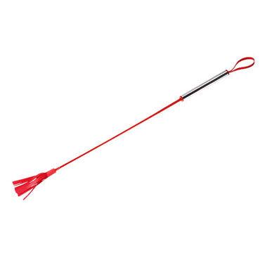 Sitabella стек красный Длинный, с металлической рукояткой bdsm арсенал стек черный с шлепком в форме сердца