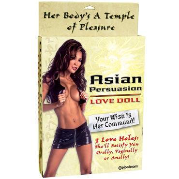 Pipedream Asian Persuasion Реалистичная кукла с влагалищем и анусом pipedream maria sin страстная чувственная мулатка с вагиной и анусом
