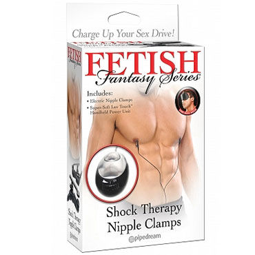 Pipedream Shock Therapy Nipple Электрические зажимы для сосков pipedream shock therapy silver bullet пуля для электростимуляции