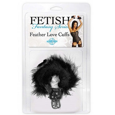 Pipedream Feather Love Cuffs черный Наручники с перышками pipedream silk love cuffs красный шелковые веревки для фиксации