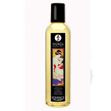 Shunga Romance, 250 мл Массажное масло, клубника и шампанское gift set of basix long boy flesh and a bottle of id glide 4 4 oz flip cap bottle