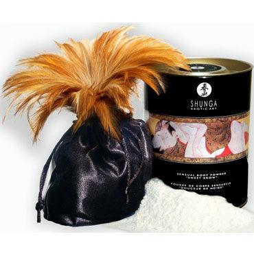 Shunga Body Powder, 228 г. Сладкая пудра для тела, вишня lolitta embrace bra черный прозрачный бюстгальтер