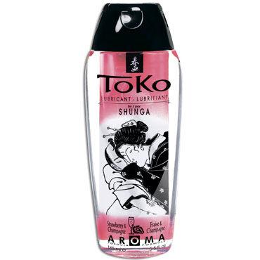 Shunga Toko Aroma, 165 мл Лубрикант с нежным вкусом, шампанское и клубника лубрикант shunga toko aqva 165 мл