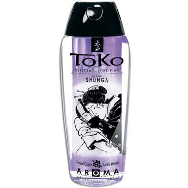 Shunga Toko Aroma, 165 мл Лубрикант с нежным вкусом, виноград svakom laura электрический массажер женский вибратор секс игрушки для взрослых