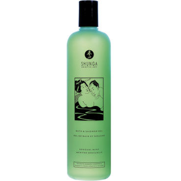 Shunga Bath & Shower Gel Sensual mint, 500 мл Гель для душа и ванны с ароматом Чувственная мята shunga bath