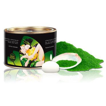 Shunga Oriental Crystals, 600 гр Соль для ванны, цветок лотоса ночная сорочка и стринги soft line holly красные xxxl