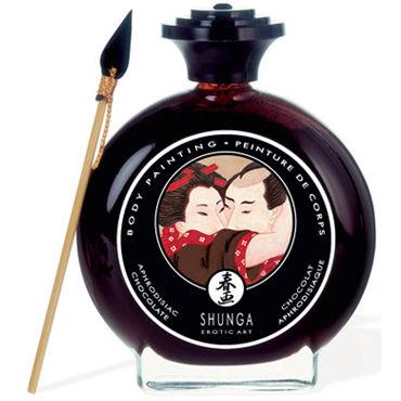 Shunga Body Painting, 100 мл Съедобная краска для тела, шоколад и афродизиак г съедобная косметика аромат – клубника