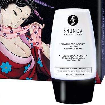 Shunga Rain of Love, 30 мл Возбуждающий крем для точки G shunga lovebath фрукты дракона 650 гр гель для ванны