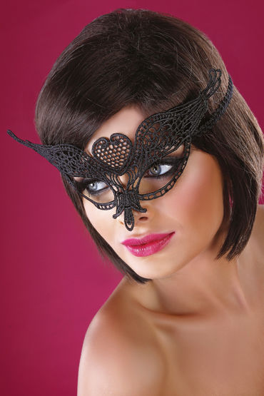 Livia Corsetti Mask Black Model 10 Элегантная маска livco corsetti mask model 1 golden золотая ажурная маска со стразами