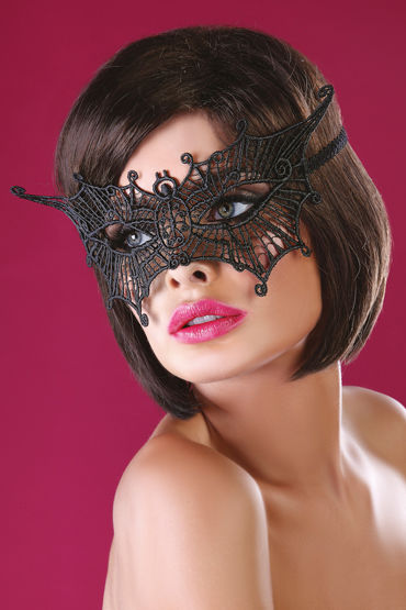 Livia Corsetti Mask Black Model 11 Элегантная маска livco corsetti mask model 1 golden золотая ажурная маска со стразами