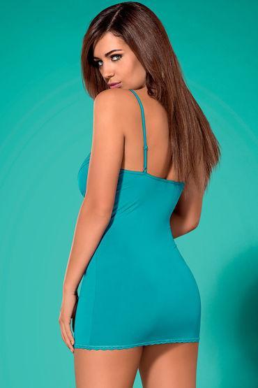Obsessive Blackardi, голубой Облегающая сорочка и трусики obsessive medica dress
