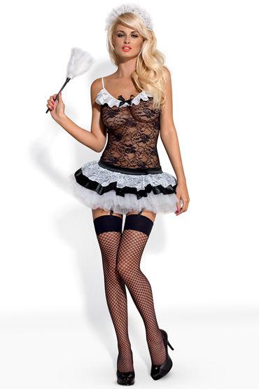 Obsessive Housemaid Костюм сексуальной горничной d cotelli платье горничной черно белое