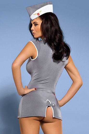 Obsessive Stewardess dress Костюм развратной стюардессы костюм obsessive stewardess corset s m