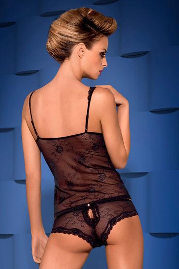 Obsessive Fiorenta, черный Топ с цветочным принтом и трусики ideal rol teaser фиолетовый теле2