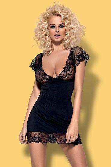 Obsessive Imperia, черный Облегающая сорочка и трусики pipedream anal fantasy collection ass sweeper анальная елочка для ношения