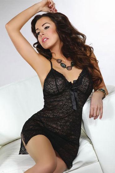Livia Corsetti Namid, черная Сорочка с бантиком и трусики livia corsetti athena