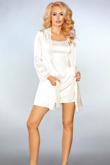Livia Corsetti Jacqueline, белые Пеньюар, сорочка и трусики livia corsetti jarita трусики панти