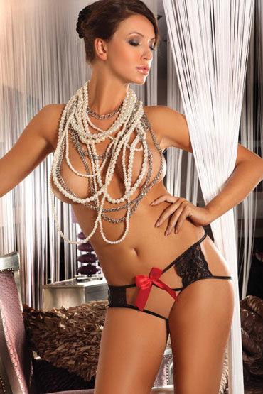 Livia Corsetti Amara, черные Трусики украшенные яркими бантами livia corsetti liama полупрозрачные трусики