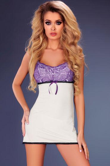 Livia Corsetti Amaris, белая Сорочка с ярким верхом и трусики obsessive f215 черный боди комбинезон с доступом