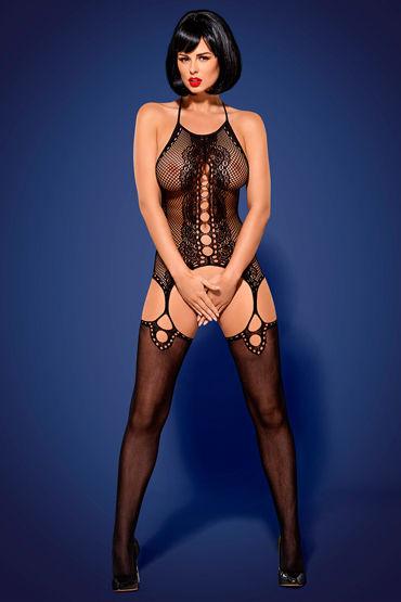 Obsessive Комбинезон-сетка С пикантным вырезом obsessive sexy bodystocking черный боди комбинезон из эластичной сетки