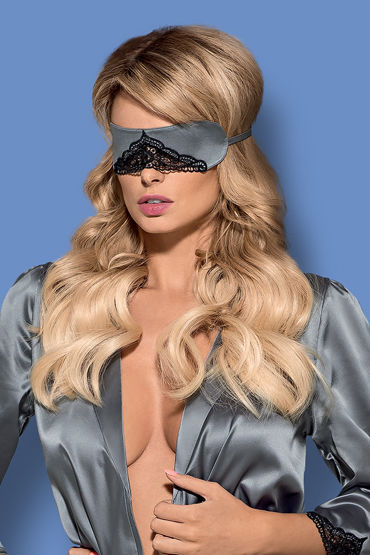 Obsessive Satinia Mask, серая Маска на глаза hearts красный маска на глаза